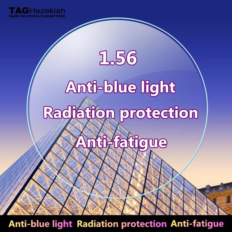 1.56 anti-rayonnement bleu anti-fatigue lentilles de prescription myopie lunettes de lecture ordinateur lunettes de lecture lentilles