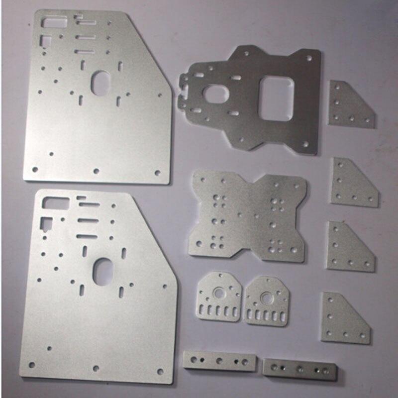 OX CNC machine pièces OX Portique plaques kit pour 23 NEMA MOTEUR angle joint de plaque arrière X axe/avant plaque ensemble 4-roues X Entretoises