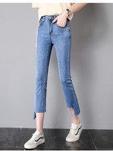 JUJULAND Fashion Women Solid Push Up Blue Sexy Denim Jeans Skinny High Waist Stretch For Female Flarel Pants 8091