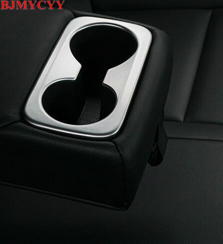 BJMYCYY Car styling Rear sewerage cup decoration frame For Hyundai Tucson 2017