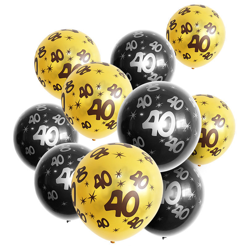 10pcs 12 inch Happy Birthday Balloon 30 40 50 60 Anniversary Latex Balloons Wedding Anniversary Decor Birthday Supplies