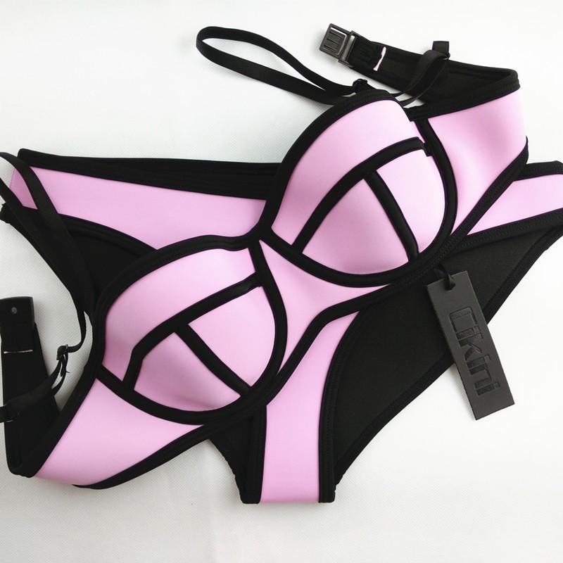 Sexy estivo donne push up set bikini costume da bagno neoprene costume ebay - Costume da bagno traduzione ...