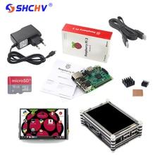 NEUE Raspberry Pi 3 Starter Kit Raspberry Pi 3 Modell B + 3,5 zoll Touchscreen + 16G Karte + Netzteil + Kühlkörper + Acryl fall