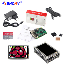 Big discount NEW Raspberry Pi 3 Starter Kit Raspberry Pi 3 Model B + 3.5 inch Touchscreen + 16G Card +Power Supply +Heatsinks +Acrylic Case