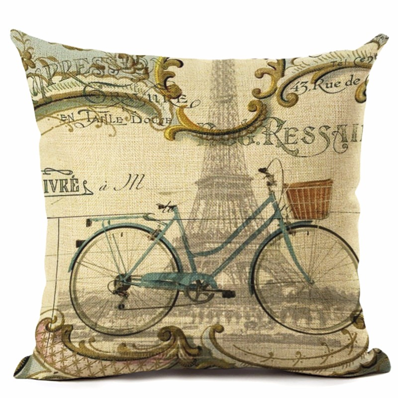 Retro Text Cushion Cover