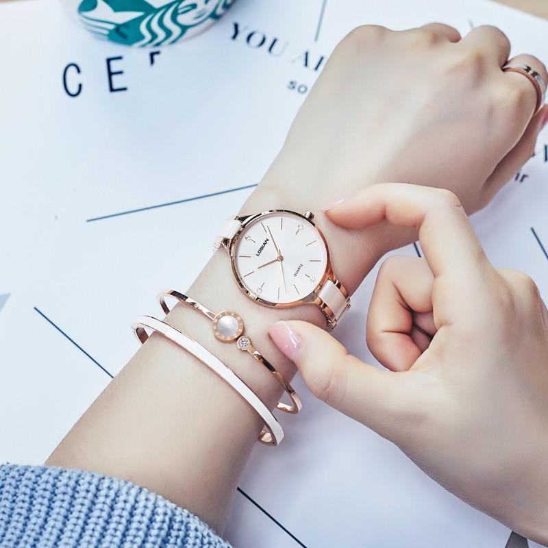 Luxury Brand Watches Women Waterproof Stainless Steel Quartz Watch Ceramic Crystal Bracelet Watch Femme Relogios Femininos