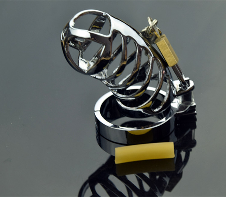 Chastity Locks Male Stainless Steel Cock Cage Penis Ring Chastity Device with Padlock Penile lock