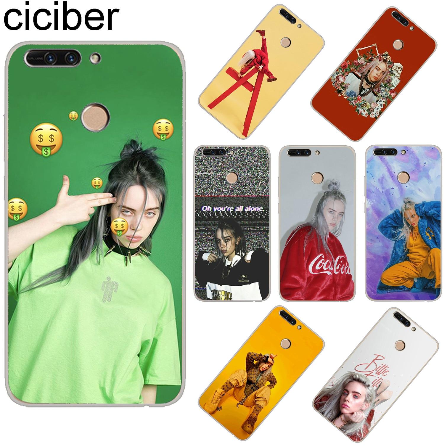 ciciber For Huawei Honor 7A 8X C Pro Soft Silicone TPU Phone Cases 10 9 Lite Play V10 V9 Singer Billie Eilish Fundas