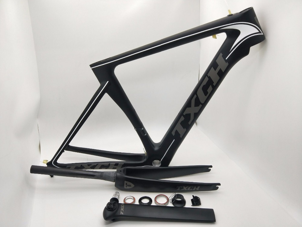 NK TXCH 10 frame carbon road bike frames 2018 racing bicycle frame carbon fiber bike frame, fork, seatpost, headset, clamp 2018 carbon fiber road bike frames black matt clear coat china racing carbon bicycle frame cycling frameset bsa bb68