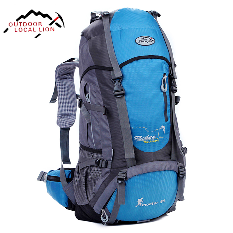 LOCAL LION Climbing Mountain Backpack Waterproof Mountainteering Climbing Backpack Rucksack Hiking Back Pack For Climbing 55L игрушка remo hobby mountain lion xtreme rh1072