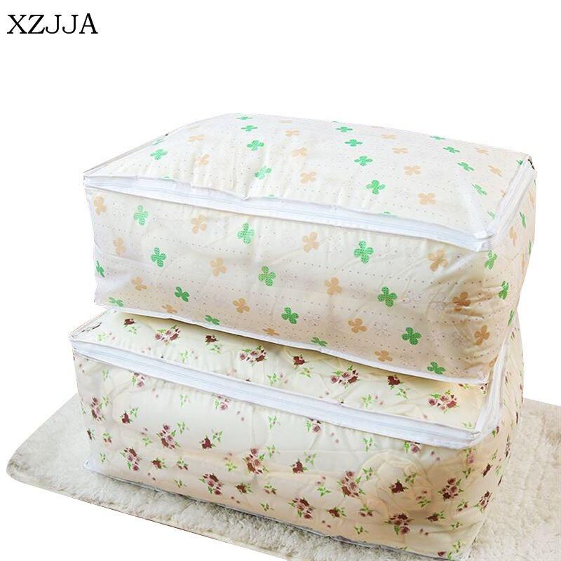 XZJJA Multi-Function Moistureproof Zipper Storage Bag Large Capacity Quilt Clothing Toy Bedding Organizers Stackable Baling Bag