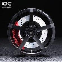 ФОТО 4pcs dc zp.06 wheel offset +6/+9 black ep 1:10 rc cars drift on road rwd awd dc-90212/dc-90186