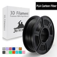 PLA Carbon Fiber 3D Printer Filament 1.75 mm fast ship new 3D Printing filament 2.2 LBS 1KG Low Odor Dimension 0.02 mm