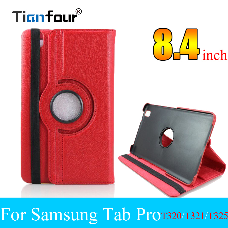 For Case Samsung Galaxy Tab Pro 8.4 T320 T321 T325 Stand Smart Tablet PU Leather Case Cover Rotating image