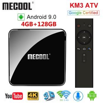 MECOOL KM3 ТВ Android tv Google Сертифицированный Android 9,0 tv Box 4 Гб ram 64 Гб Amlogic S905X2 4 K Dual Wifi BT4.0 телеприставка KM9 Pro