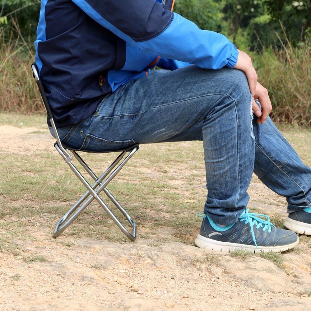 OUTAD dossier léger Portable pliant Oxford chaise en aluminium tabouret siège pour Camping pêche avec cordon sac de transport