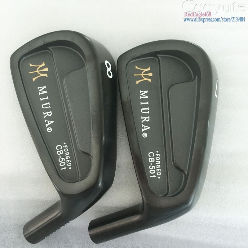 New mens Golf heads MIURA CB-501 FORGED Carbon Steel Black Golf Irons set 4-9.P Clubs head no Golf shaft Free shipping new taylormade 2014 tour preferred cb 6 piece iron set steel