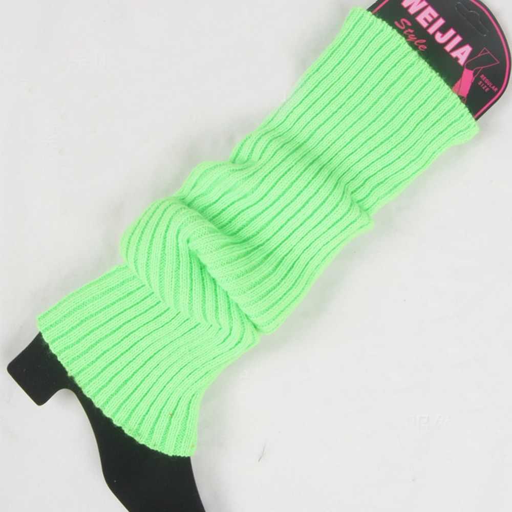 Yeni Örgü Kış Bacak Isıtıcıları Şeker Renk Rahat Kadın Sıcak Klasik Örgü Bacak Isıtıcıları