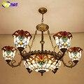 Подвесная лампа FUMAT  витражный светильник в европейском стиле  барочный светильник для гостиной  спальни  художественный абажур  светодиодн...