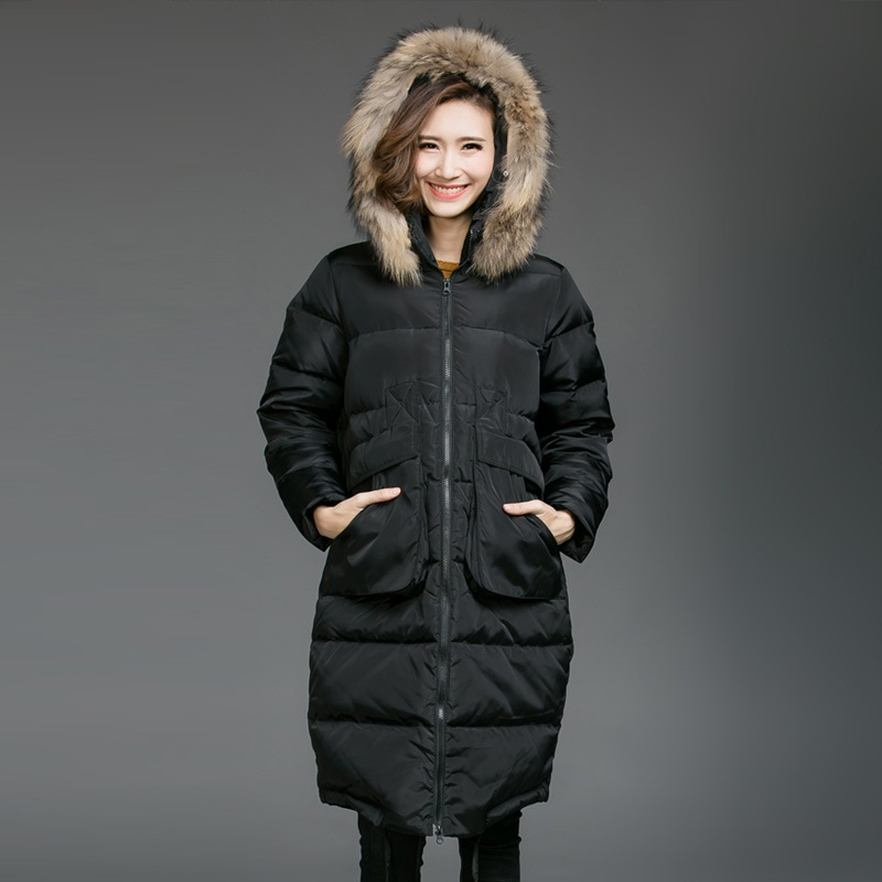 Подробнее о 2016Winter coat hooded Wadded coat female plus size warm thick fur collar long cotton-padded jacket coat outwear parkas 5XL8253 new winter jacket men cotton parkas padded long black thick warm casual hooded fur collar jacket coat outwear zipper jackets