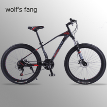 где купить wolf's fang Mountain Bike Bicycle 26 inch 21 speed Road bikes bicycles Fat Tire Bikes Snow bike BMX Man Free shipping дешево