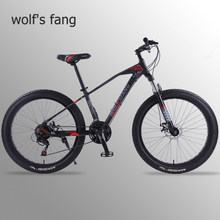 wolf's fang Mountain Bike Bicycle 26 inch 21 speed Road bikes bicycles Fat Tire Bikes Snow bike BMX Man Free shipping(China)