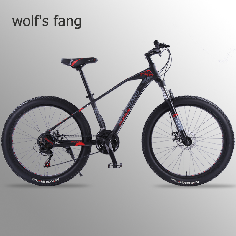 wolf's fang Mountain Bike Bicycle <font><b>26</b></font> inch 21 speed 3.0 Road bikes bicycles Fat Tire Bikes Snow bike <font><b>BMX</b></font> Man New Free shipping image