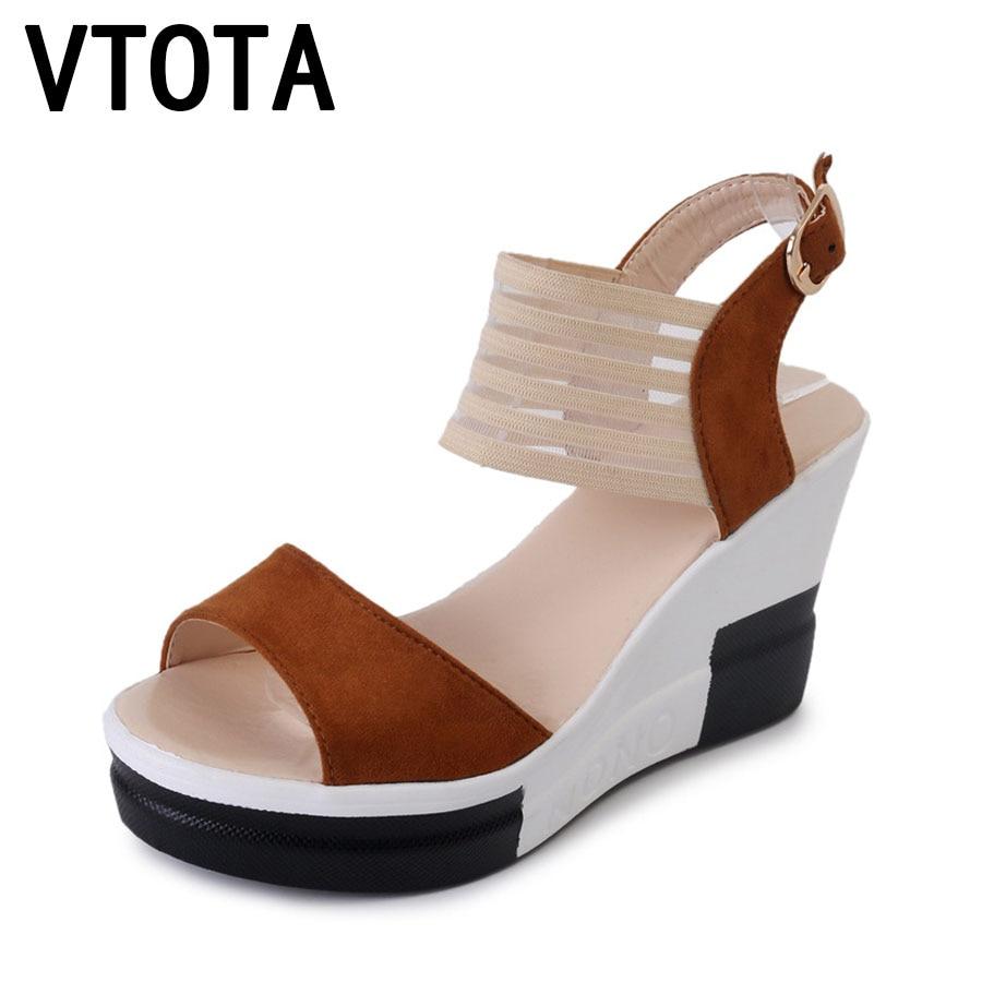 VTOTA Sandals Women 2018 Platform Summer Shoes Open Toes Rome Sandals High Heels Shoes Wedges Sandals Sandalias Mujer H6 vtota summer shoes woman sandals wedges fashion women shoes high heeled shoes thick heel sandals waterproof platform shoes x326