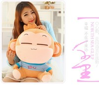50 cm lovely monkey with i love you cloth plush toy yoyo and cici loves monkey doll throw pillow birthday gift w6202