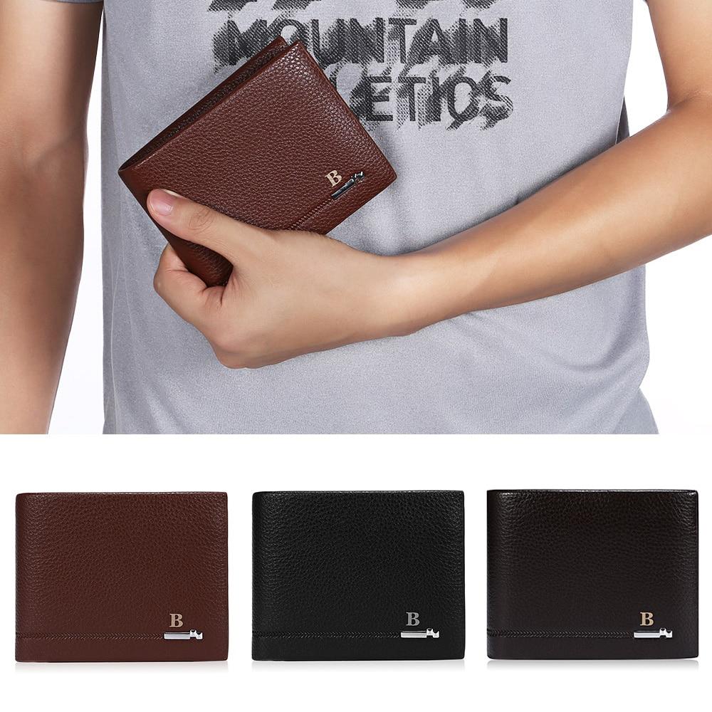 Bifold Wallet Men Leather Short Wallet Vintage Leather Casual Men Wallet Purse Pockets Standard Card Holder Money Cash Wallets zelda wallet bifold link faux leather dft 1857