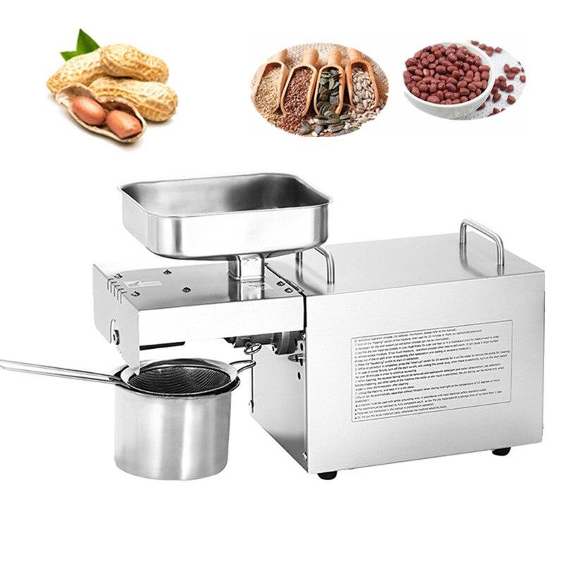 Горячая продажа семян экстрактор для масла 110 В/220 В небольшой Электрический тепла холодной арахиса кунжута сои миндаля масло пресс машина