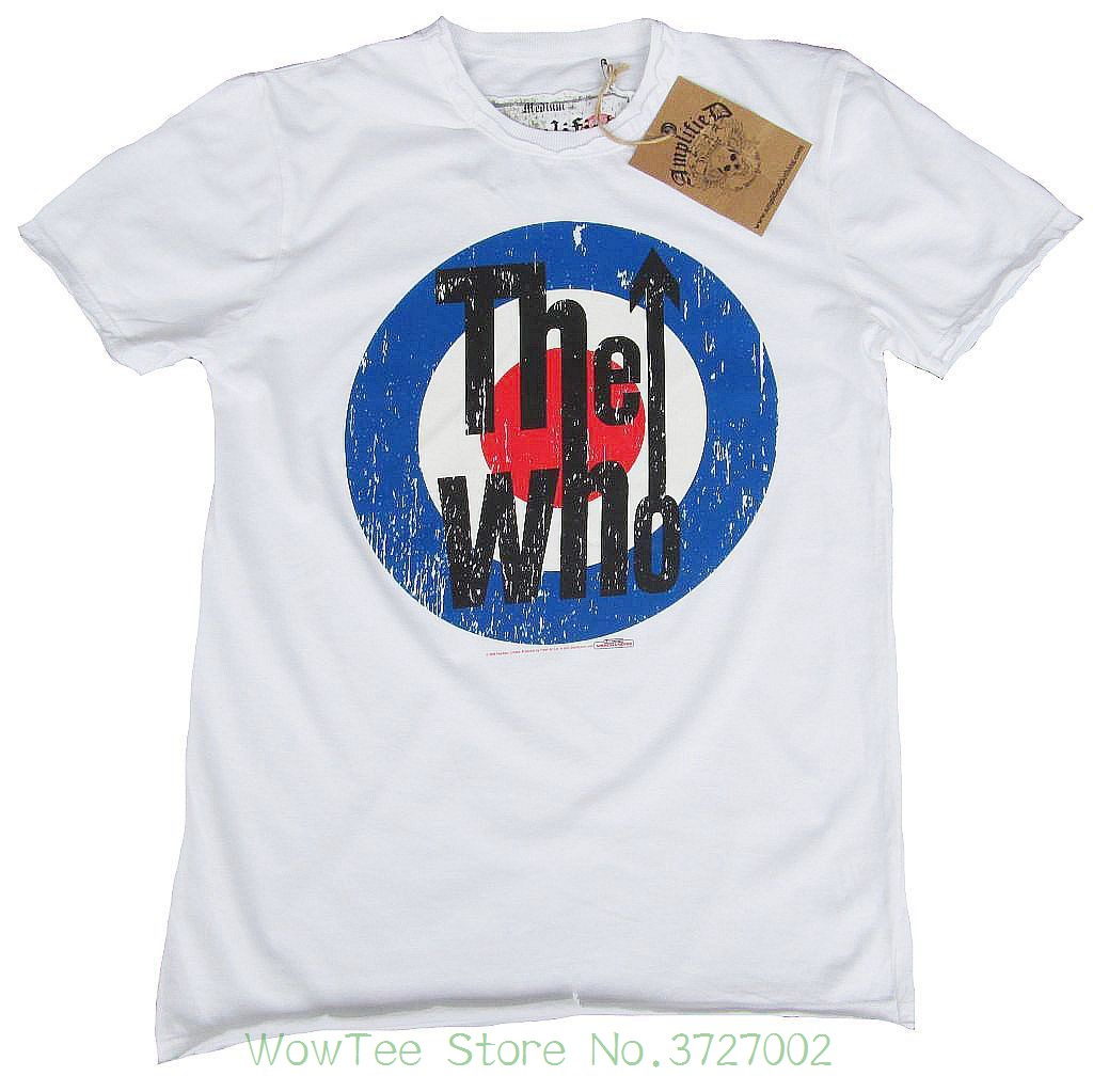 Wow Amplified Official The Who Target Rock Star Vintage Vip T-shirt G.l 50 / 52 New 2018 Fashion Hot