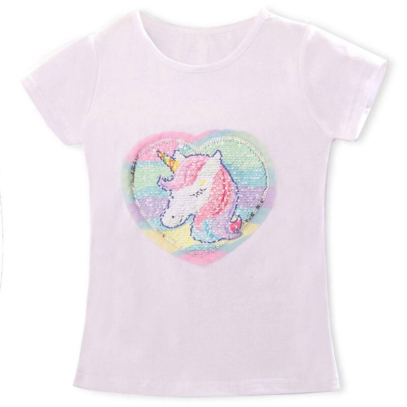 Футболки для маленьких девочек Детская летняя футболка для мальчиков и девочек детская футболка с принтом единорога Повседневная забавная одежда для малышей футболки - Цвет: As Photo