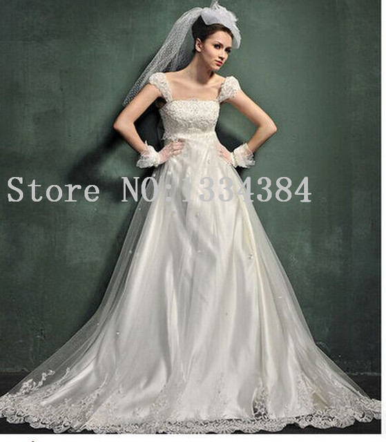 2014 Yards Pregnant Waist Strap Custom Wedding Dress Specially Designed For Women 3