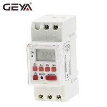 GEYA THC-15 Time Switch Weekly Programmable DIN Rail LCD Digital Timer Switch 16A ACDC 12V 24V 110V 220V 240V