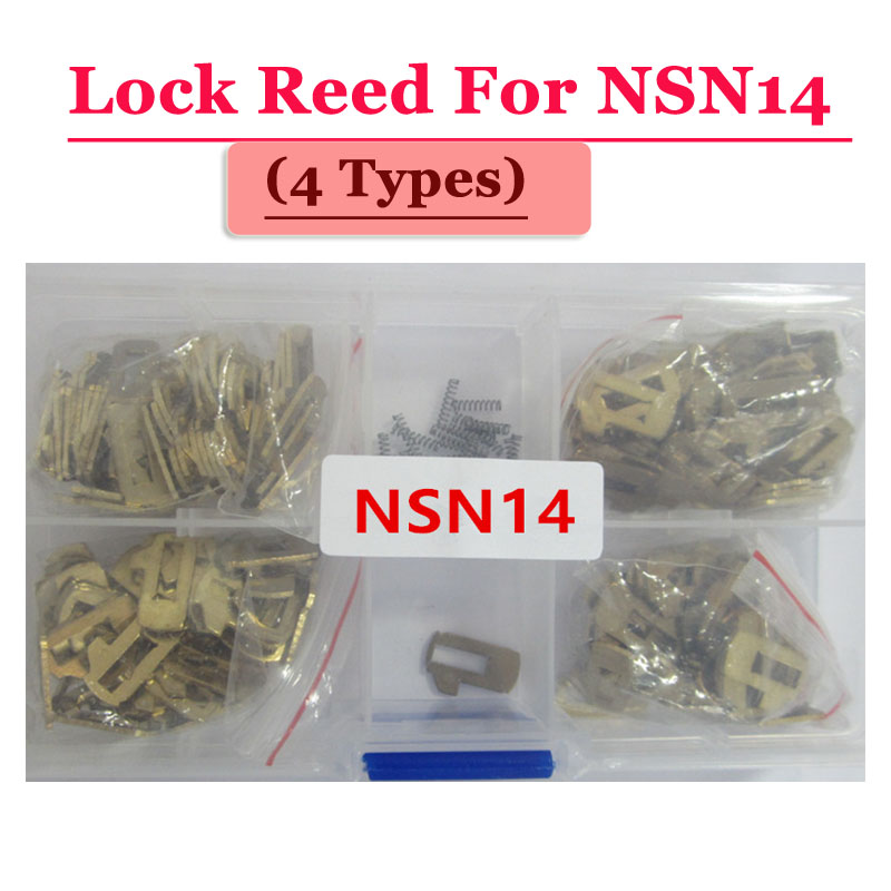 Free shipping (100pcs/box )NSN14 car lock reed locking plate for Nissan lock (each type 25pcs) Repair Kits 200pcs lot hu92 car lock reed locking plate hu92 car locks tablets lock spring car locksmith tools