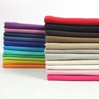 Candy Color Plain Hemp Solid Color Fabric Linen Cloth For DIY Handmade Clothing Diy Hemp Cloth