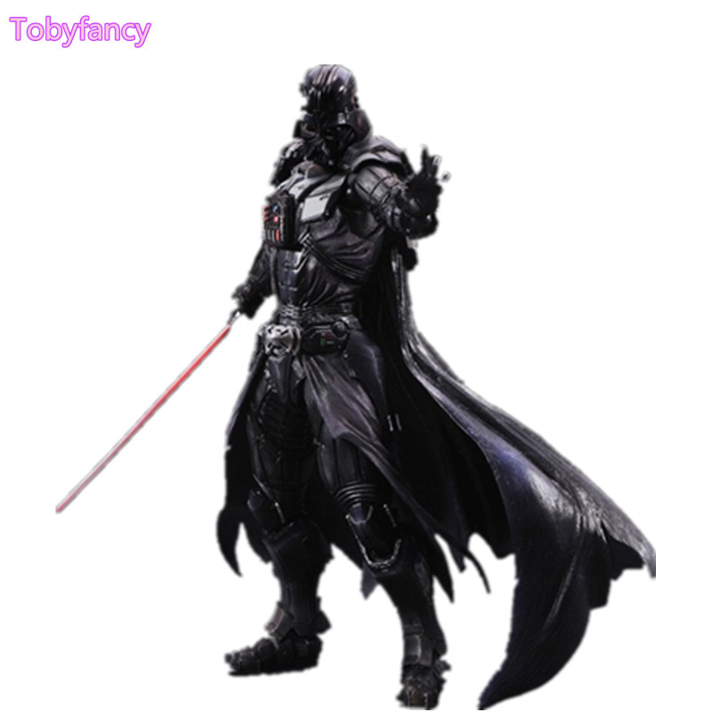 Star Wars Play Arts Kai Action Figure Darth Vader Toys Collection Model PVC 275mm Star Wars Vader Play Arts Kai Toy playarts kai star wars darth maul pvc action figure collectible model toy 28cm free shipping kb0276