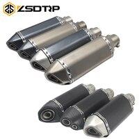 ZSDTRP Universal Motorcycle Akrapovic Exhaust Modify Motocross Exhaust Muffler For FZ6 CBR250 CB600 MT07 ATV Dirt