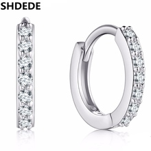 SHDEDE Small Hoop Earrings Vintage Fashion Jewelry For Women Clear Cubic Zirconia Accessories +*WHEB152