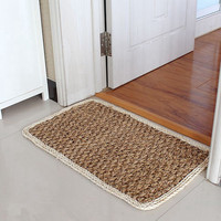 Wovenwomen Handmade Carpet Straw Floor Mat Home Rectanglar Braided Rugs Area Hall Carpets Of Thatch