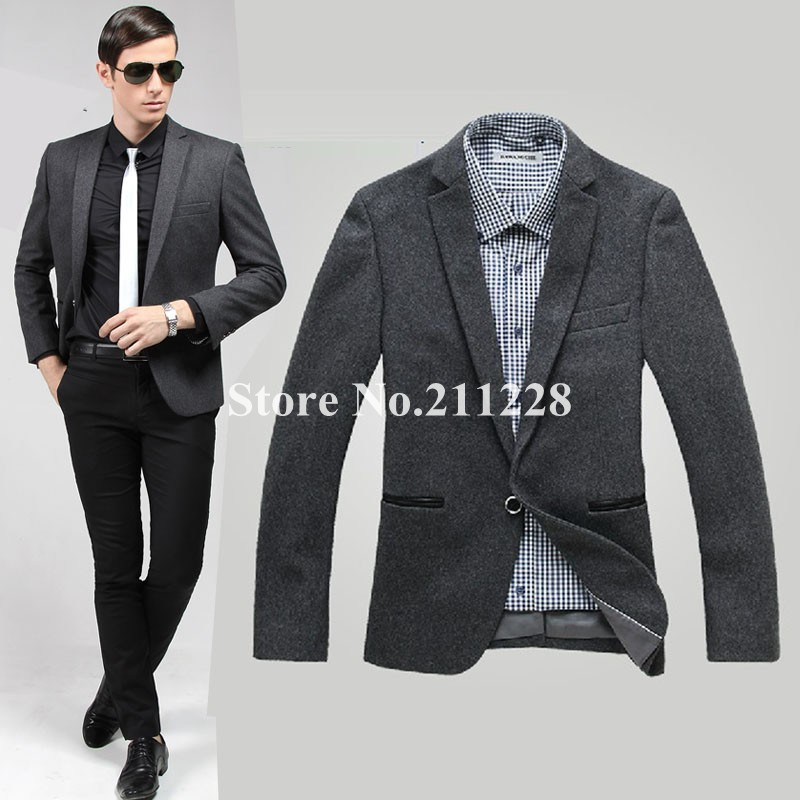 Online Get Cheap Grey Mens Blazer -Aliexpress.com | Alibaba Group
