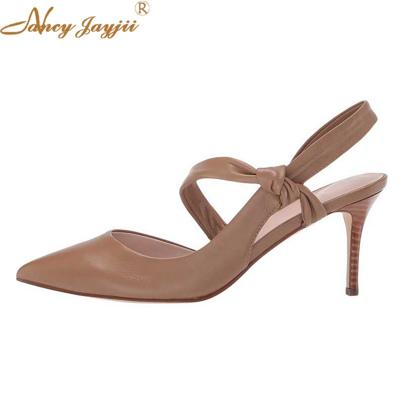 Pointu Kaki Cuir Beige Élégant En Pour Nancyjayjii Femmes ty01 Papillon Noir Solide Bout Escarpins Pompes Blanc Étroite Chaussures Printemps Noeud ty02 Ty03 5nwxwq8Y