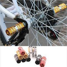 Алюминиевый нескользящий MTB велосипед 1 пара велосипедная педаль Передняя Задняя ось подножки BMX подножка рычаг цилиндр Аксессуары для велосипеда