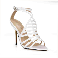 2016 Ankle Strap Women Shoes Satin Rome Gladiator Sandals Party Wedding High Heel Sandals Summer Shoes Woman Sandalias 3845C-4c цены онлайн
