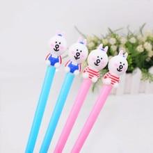 10pcs/lot  creative stationery cute cartoon Korean rabbit gel pen 0.5mm black water signature