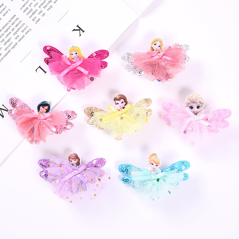 $1.99 - 1Pcs Disney Princess Theme gift Children Headwear Hair Clips   1