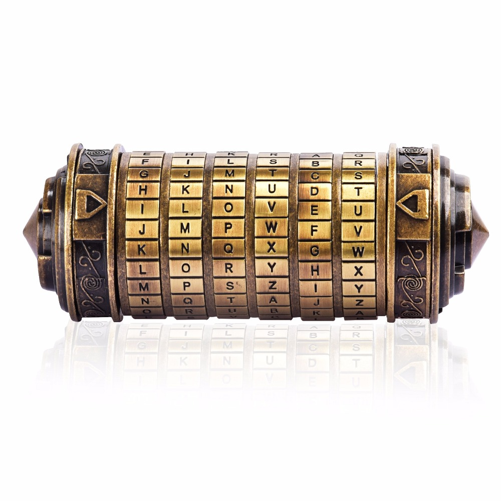 Creative rétro Lockbox Da Vinci Code Alphabet serrures décoration de la maison cadeau d'anniversaire lettre mot de passe serrure Puzzle éducatif