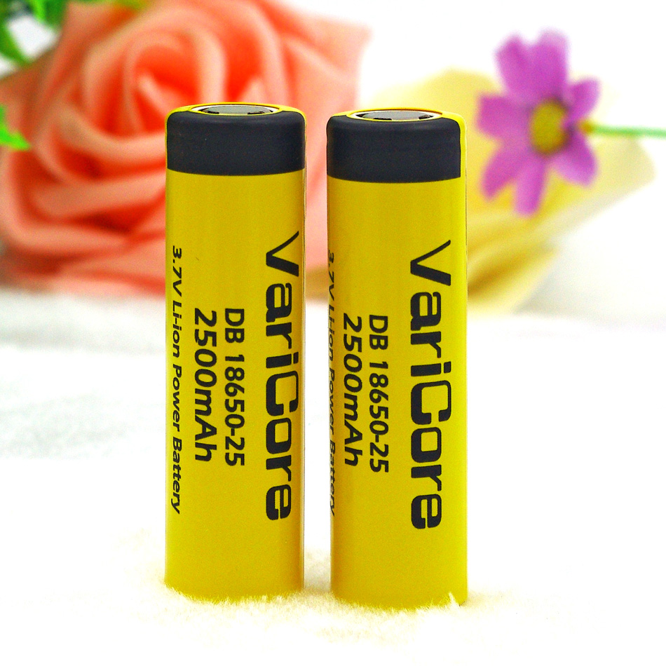 1 PC. VairCore DB-18650-25 18650 3.7 V 2500 mAh IMR18650 35A charged battery High Capacity 20A maximum switching descargaE4
