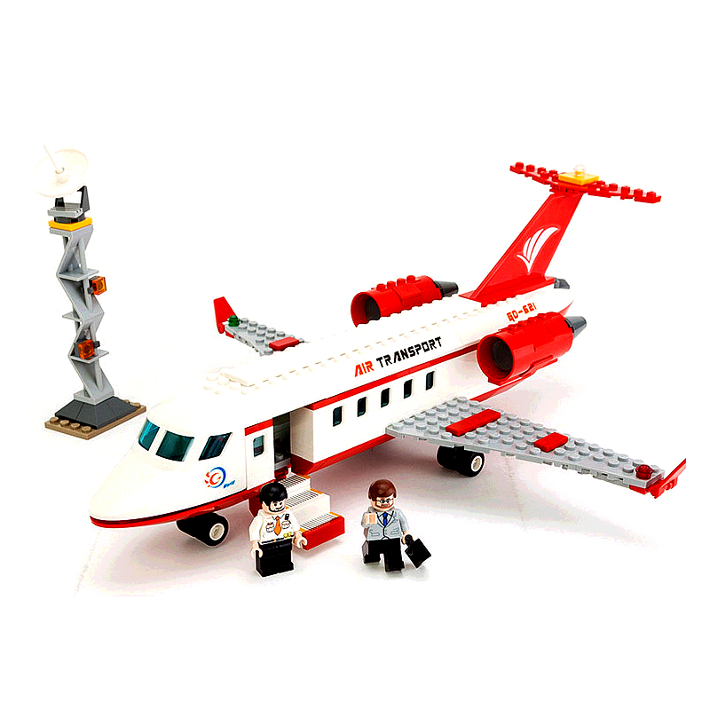 334pcs City Airplane Toy Air Bus Model Airplane DIY